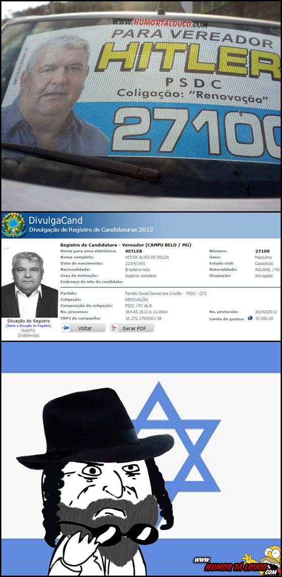 candidatos eleições 2012 bizarros [01] - Vereador Hitler PSDC 27100