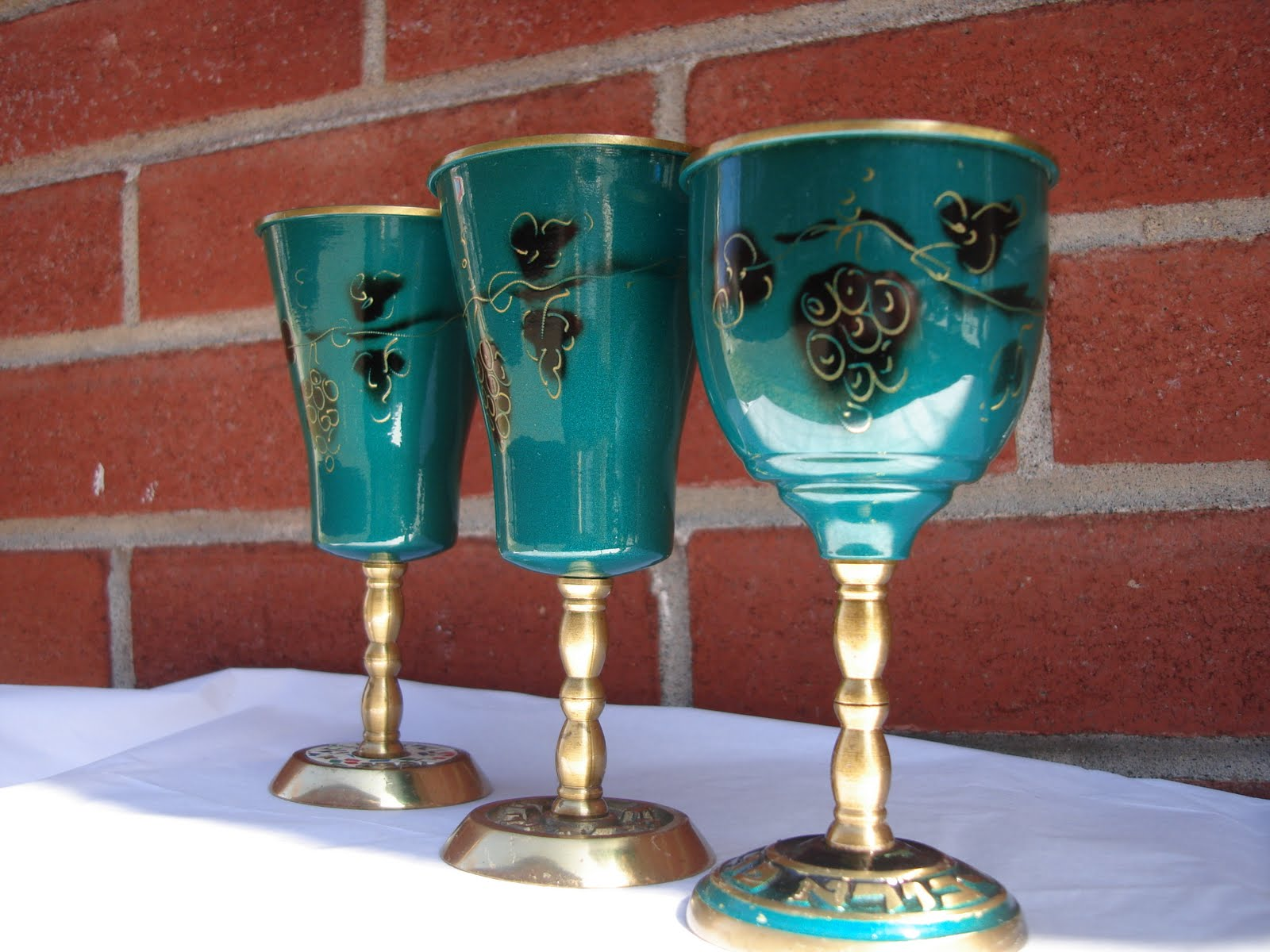 Vintage Treasures And More Antique Metal Wine Goblets From Israel