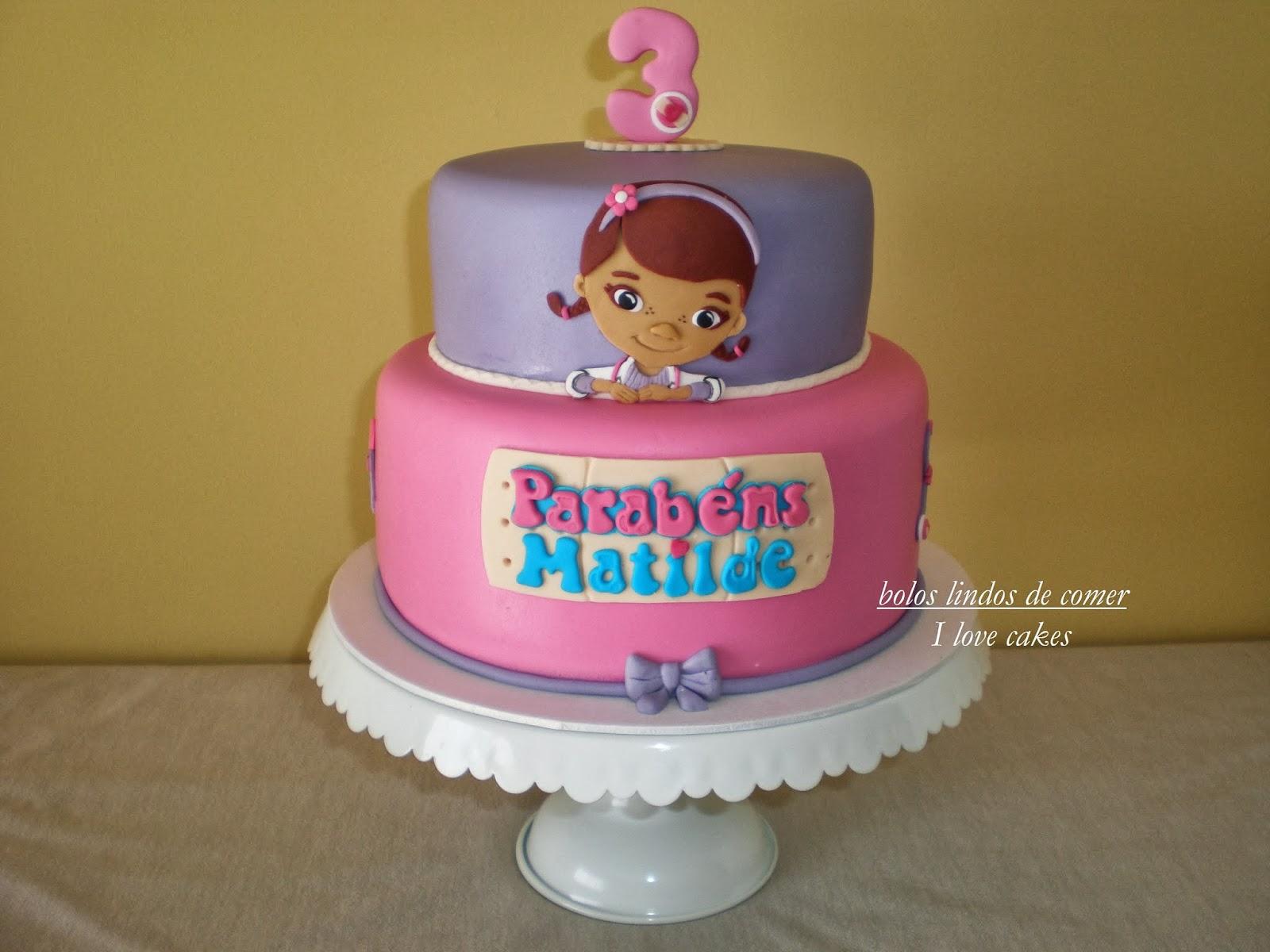 Super Bolos lindos de comer: Bolo Doutora Brinquedos / Doc McStuffins cake RY66