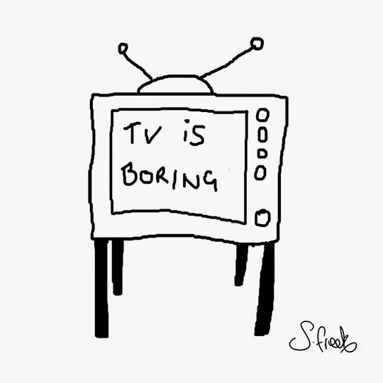 TV is boring, illustration, sketch, drawing, Sam Freek,