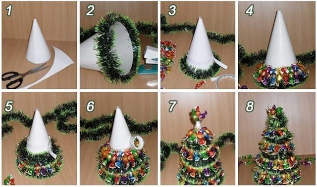 Passo a Passo - Mini Árvore de Natal com Chocolates