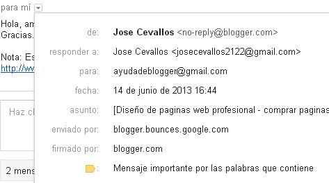 Formulario de contacto para blogger con un simple widget