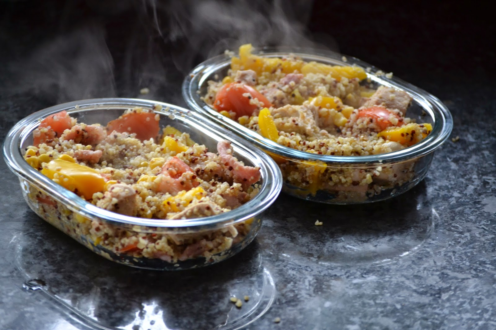 Quinoa and Bulgar Wheat Bake