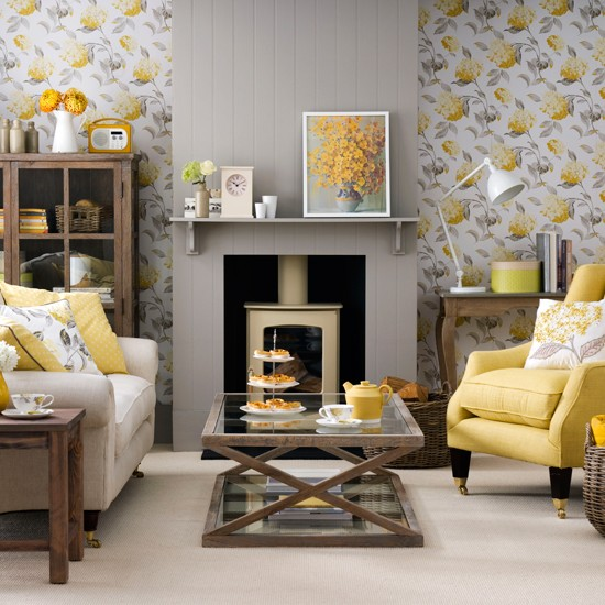 Wallpaper For Living Room 2013 mix and chic: sprucing up your living room using wallpapers!