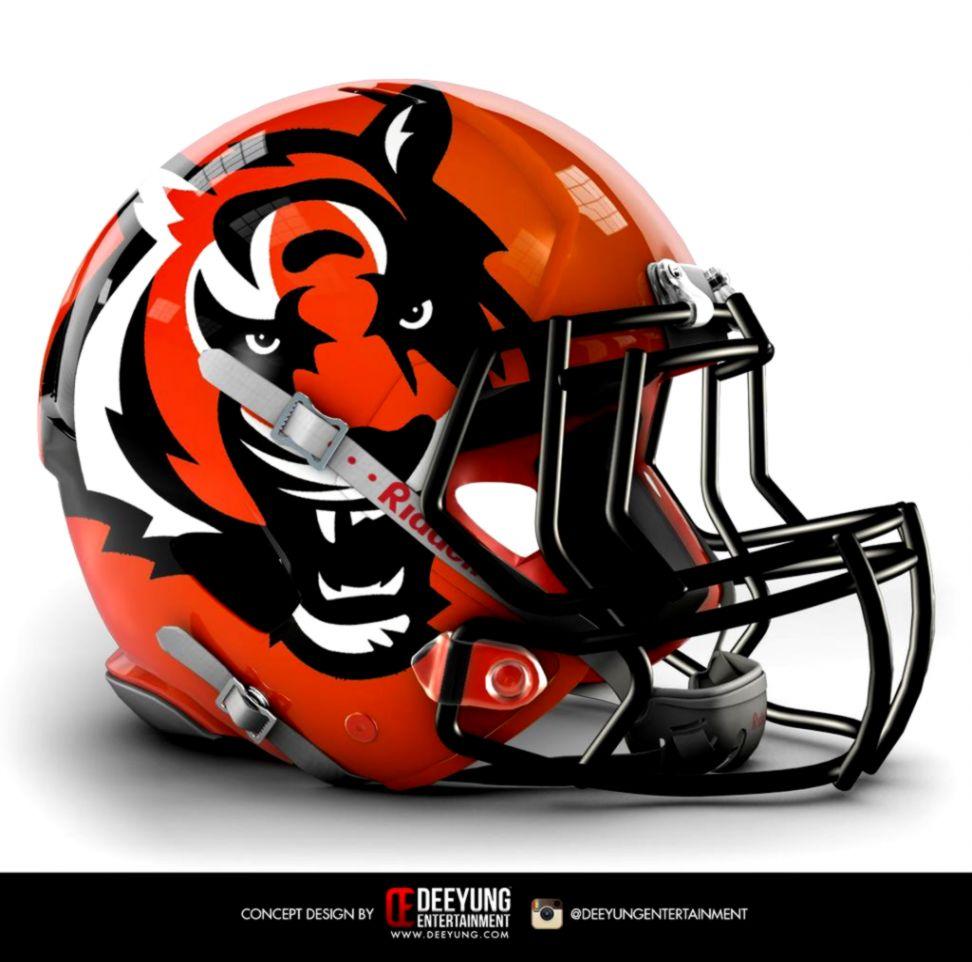 Cincinnati Bengals Helmet Concept  Uniform Concepts  Pinterest