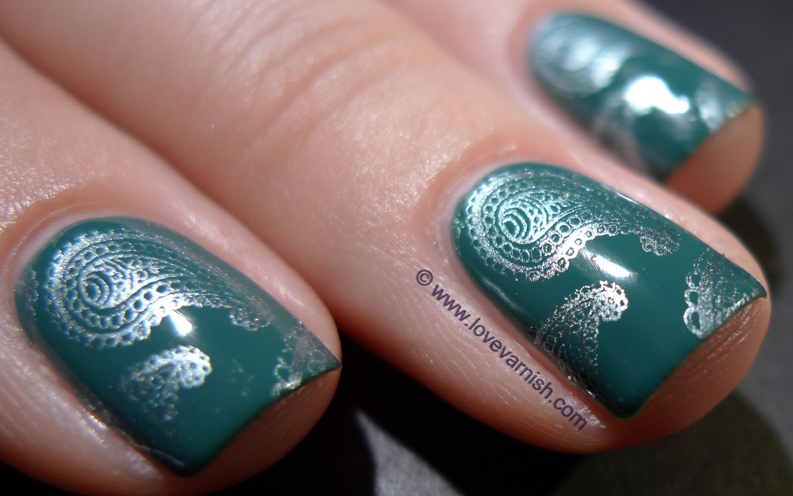Love Varnish: China Glaze Exotic Encounters stamped with Metallic Muse