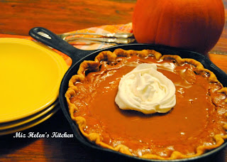 Caramel Pumpkin Skillet Pie  from Miz Helen's Country Cottage