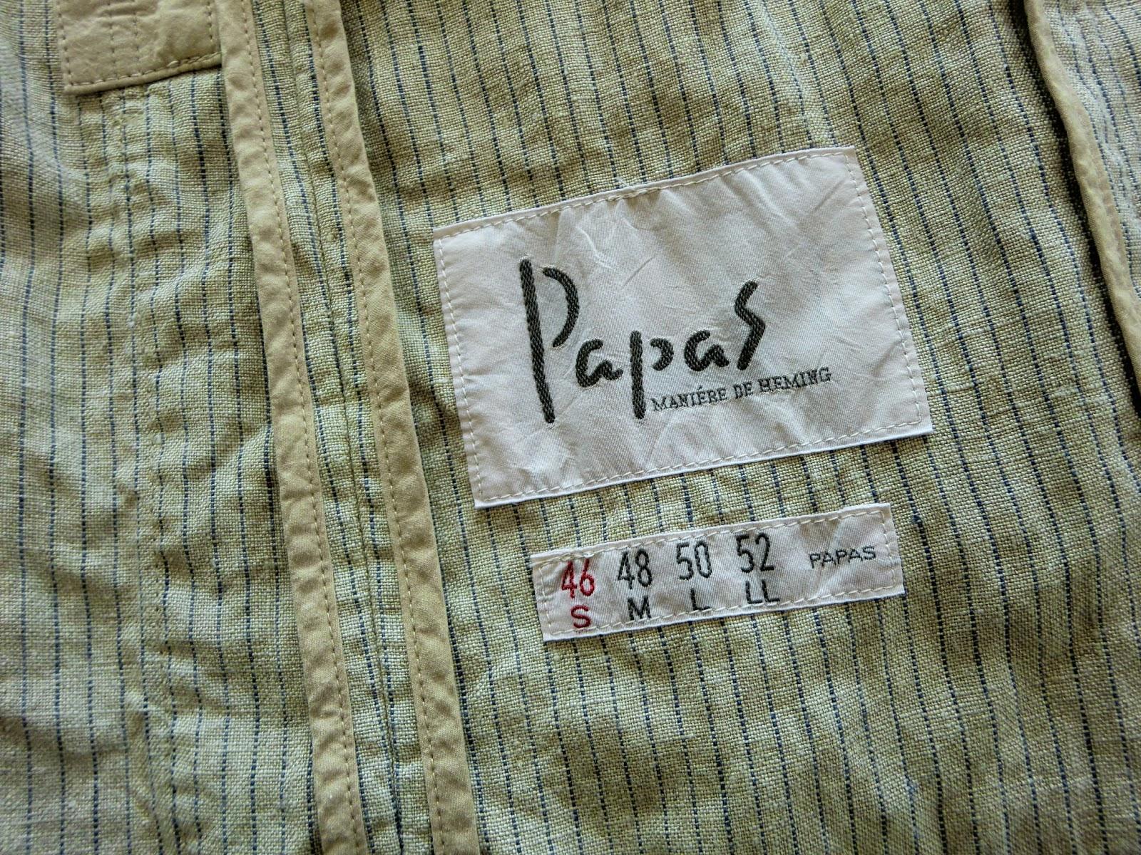 Papasパパスジャケット ボールペンインクのしみ抜き写真 金沢市でしみぬきの上手いクリーニング店