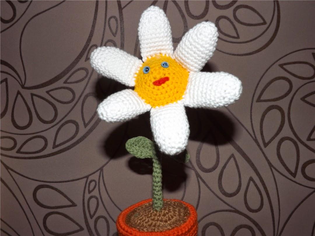 Flor de crochet amigurumi
