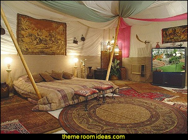 Moroccan theme Aladdins theme bedroom decorating ideas-tent style decorating