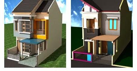 contoh desain rumah minimalis 2 lantai type 27