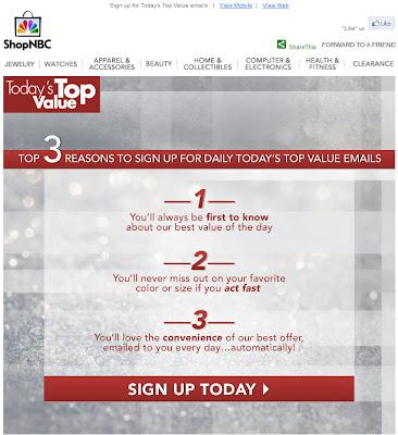 May 28, 2012 ShopNBC email
