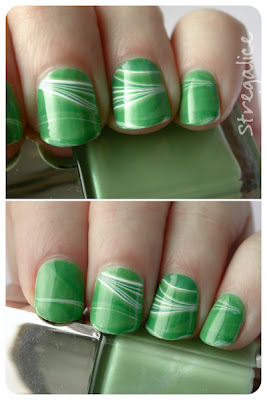 green candy cane watermarble