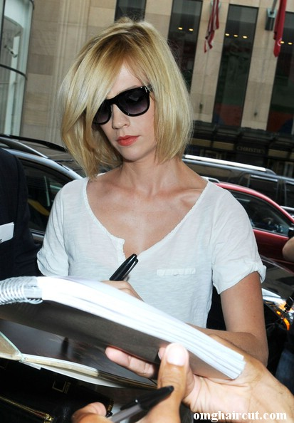 short side parting hairstyles. January Jones Bob Hairstyle