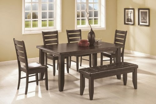 6pc dining table and chairs set