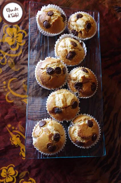 Muffins au beurre de cacahuetes