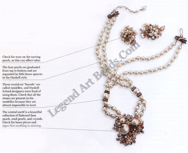 Robert Baroque Pearl & Pink Crystal Necklace & Earring Set