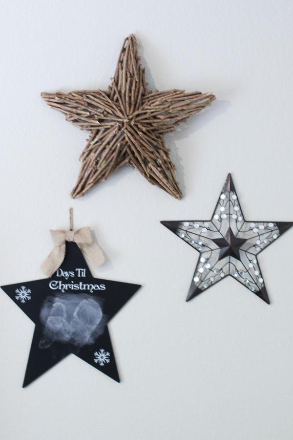 star wall decor for christmas