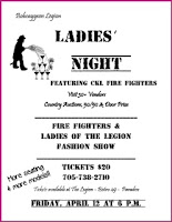 image Bobcaygeon Legion Ladies Night 2013 poster