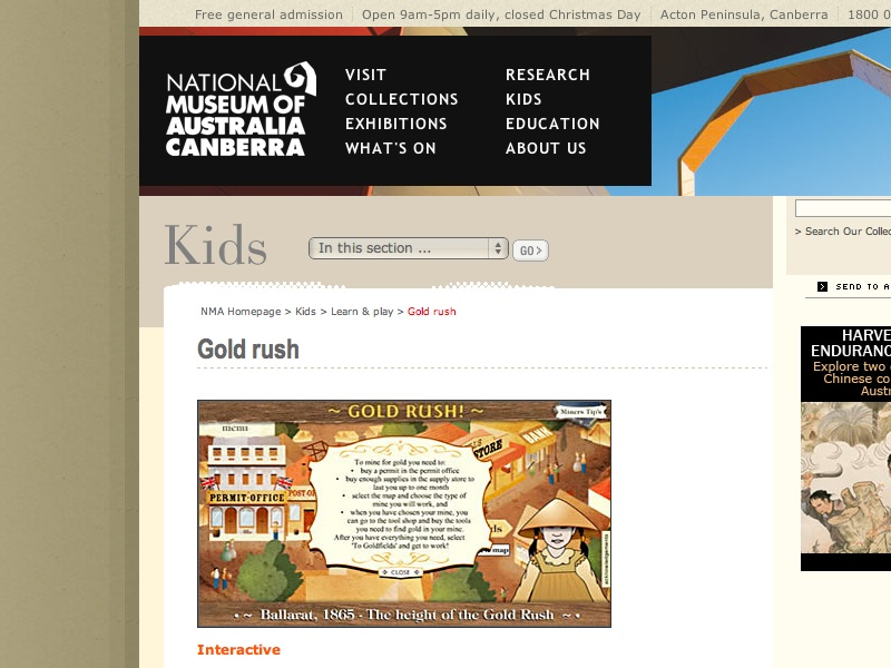 gold rush australia pictures. gold rush australia kids.