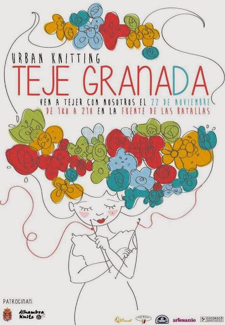 flores, punto, ganchillo, Alhambra Knits, Granada, Violín Cantarín