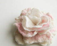 felted flower brooch rose