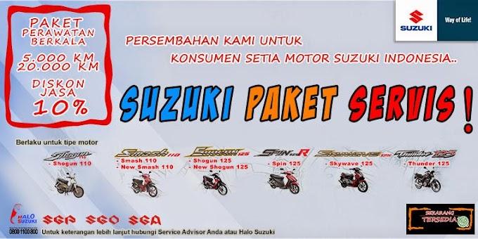 Suzuki Adakan Paket Servis untuk Konsumen Setianya