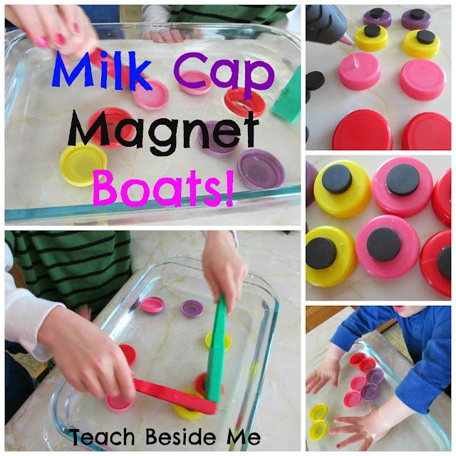 milk cap magnet boats