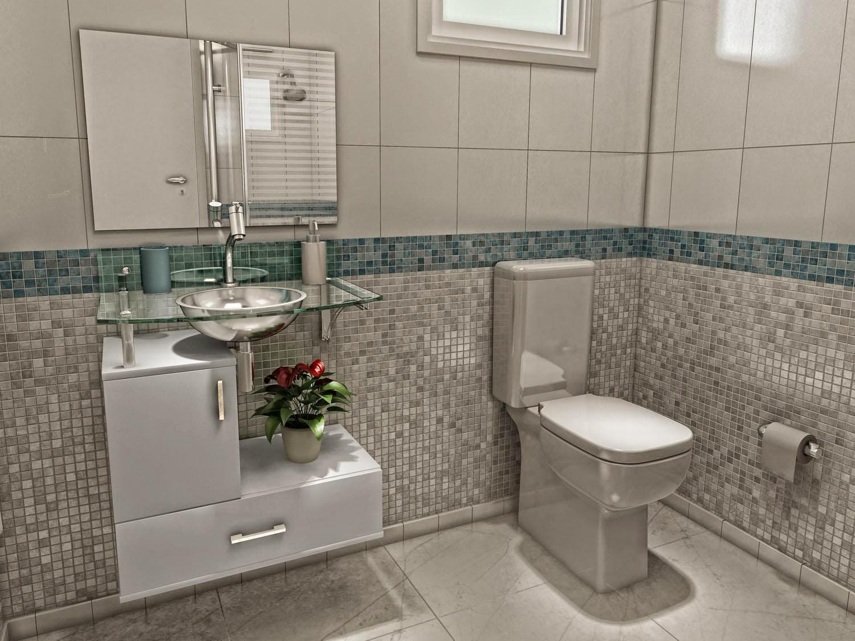 Banheiros simples #6F814A 1500 1125