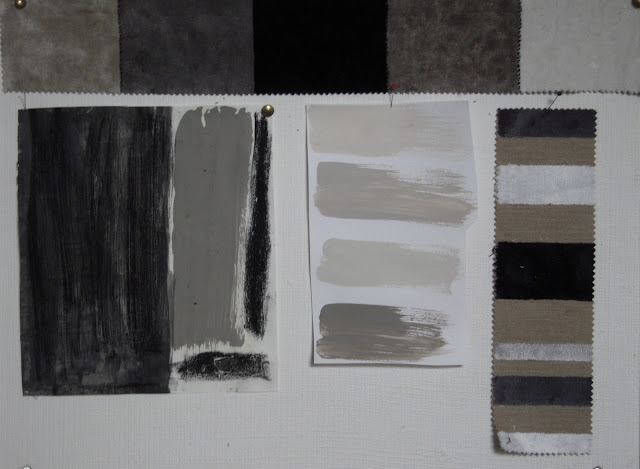Light color design brown gray taupe and a little gold - Black and white paint schemes ...