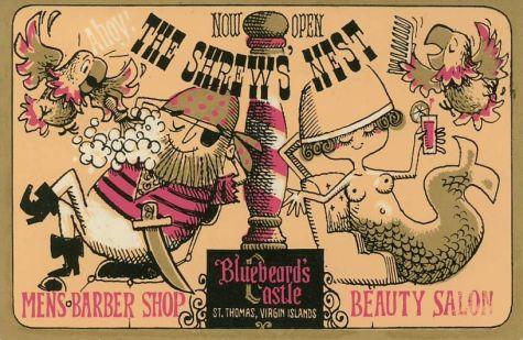 Vintage Beauty Salon Signs Antique Barber Picture