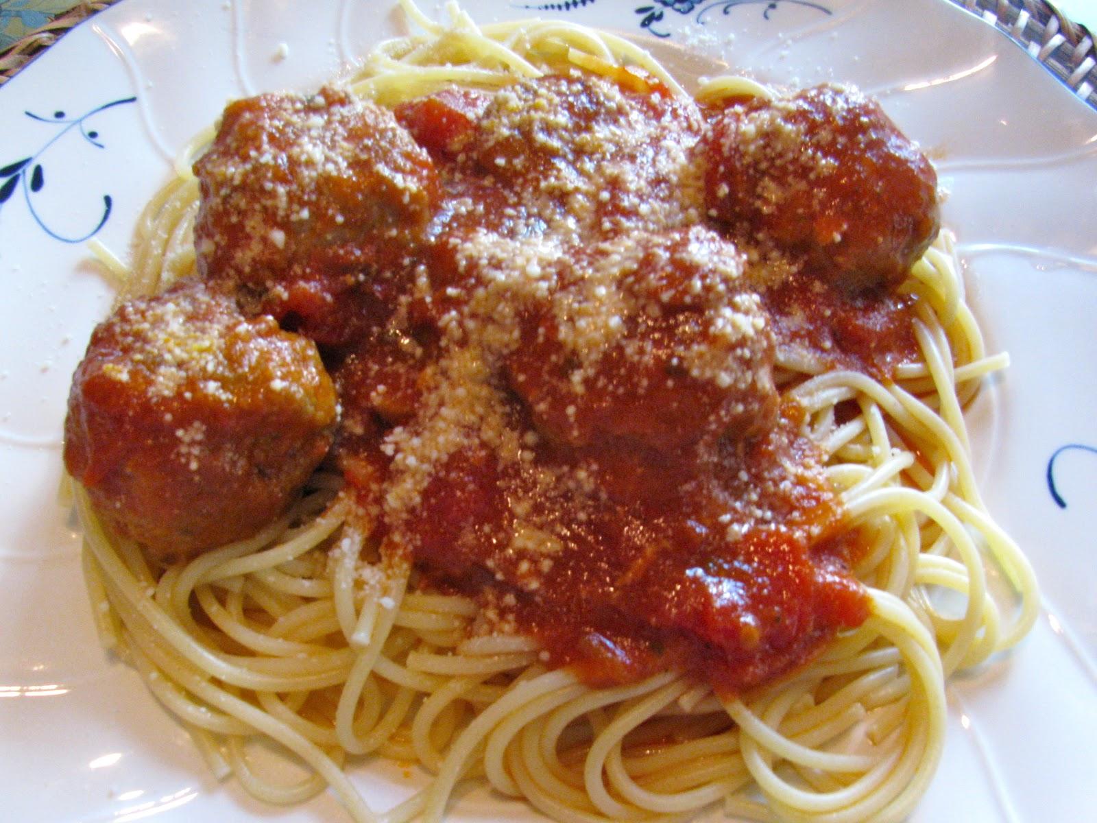 Rita's Recipes: Turkey Meatballs and Spaghetti