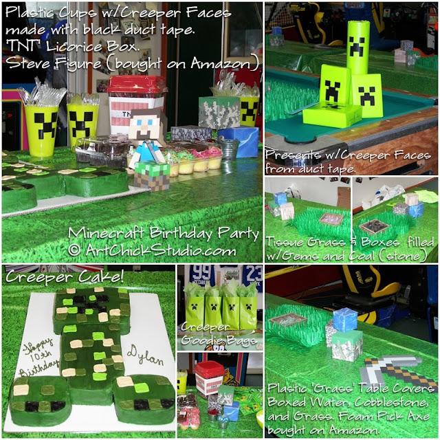Minecraft Birthday Party Decor