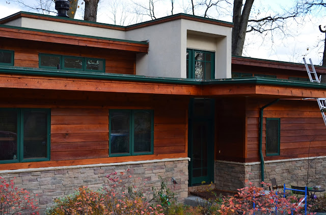Stained House Siding : Cedar siding stain technique