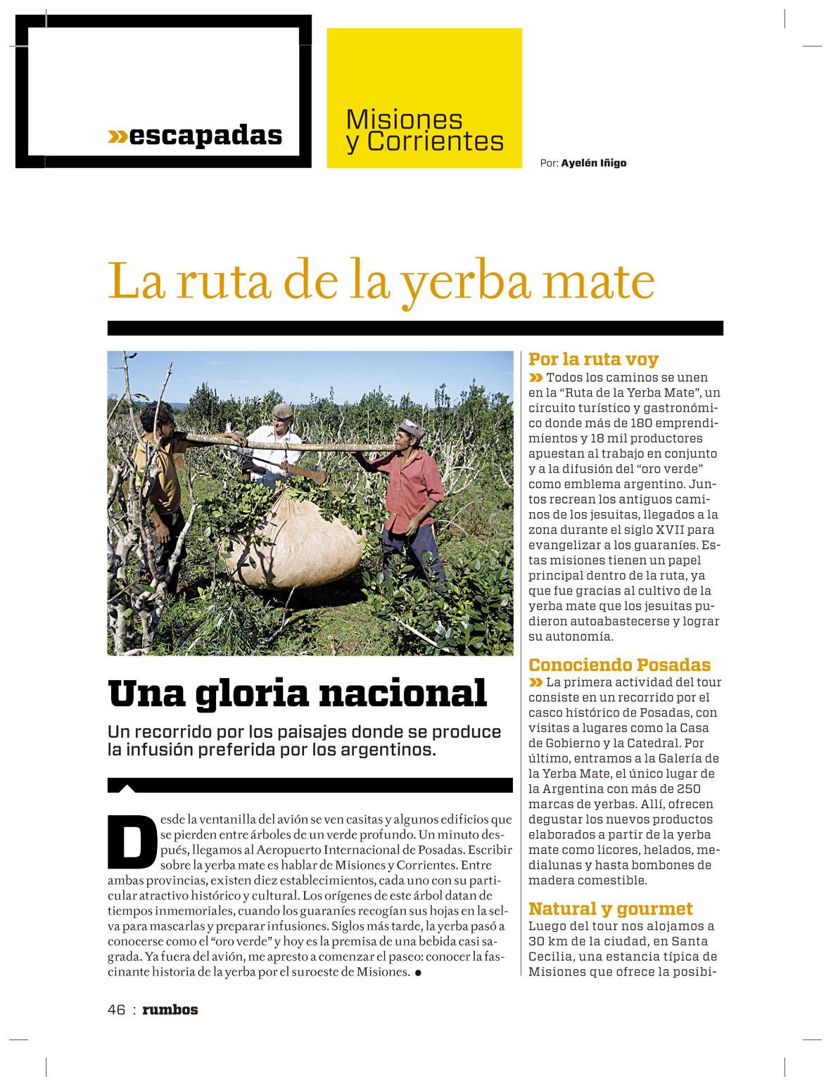 Circuito Yerba Mate : Noticias de la ruta de la yerba mate