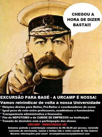 Movimento para ir a Bagé protestar - Urcamp São Gabriel