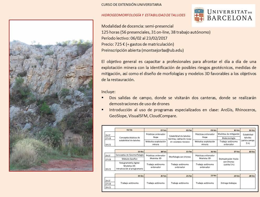 Hidrogeormorfologia y estabilidad de taludes