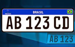 Nova placa de veículos no Brasil não terá nomes de cidade e estado.