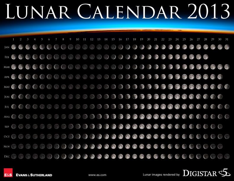 Lunar Calendar 2013: Never Miss a Full Moon