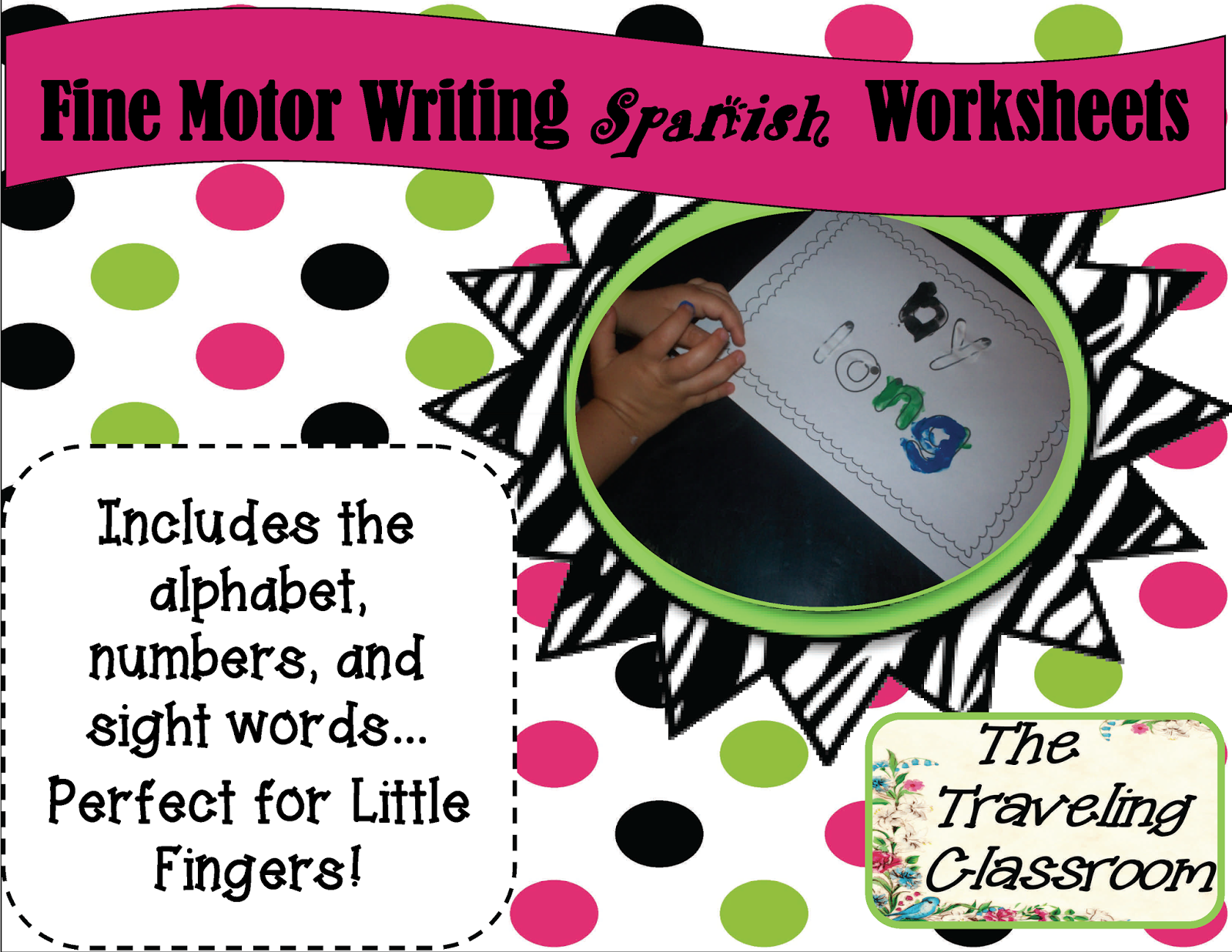 http://www.teacherspayteachers.com/Product/Freebie-Spanish-Fine-Motor-Worksheets-for-Activity-Centers-More-922557
