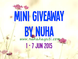 Mini Giveaway by Nuha