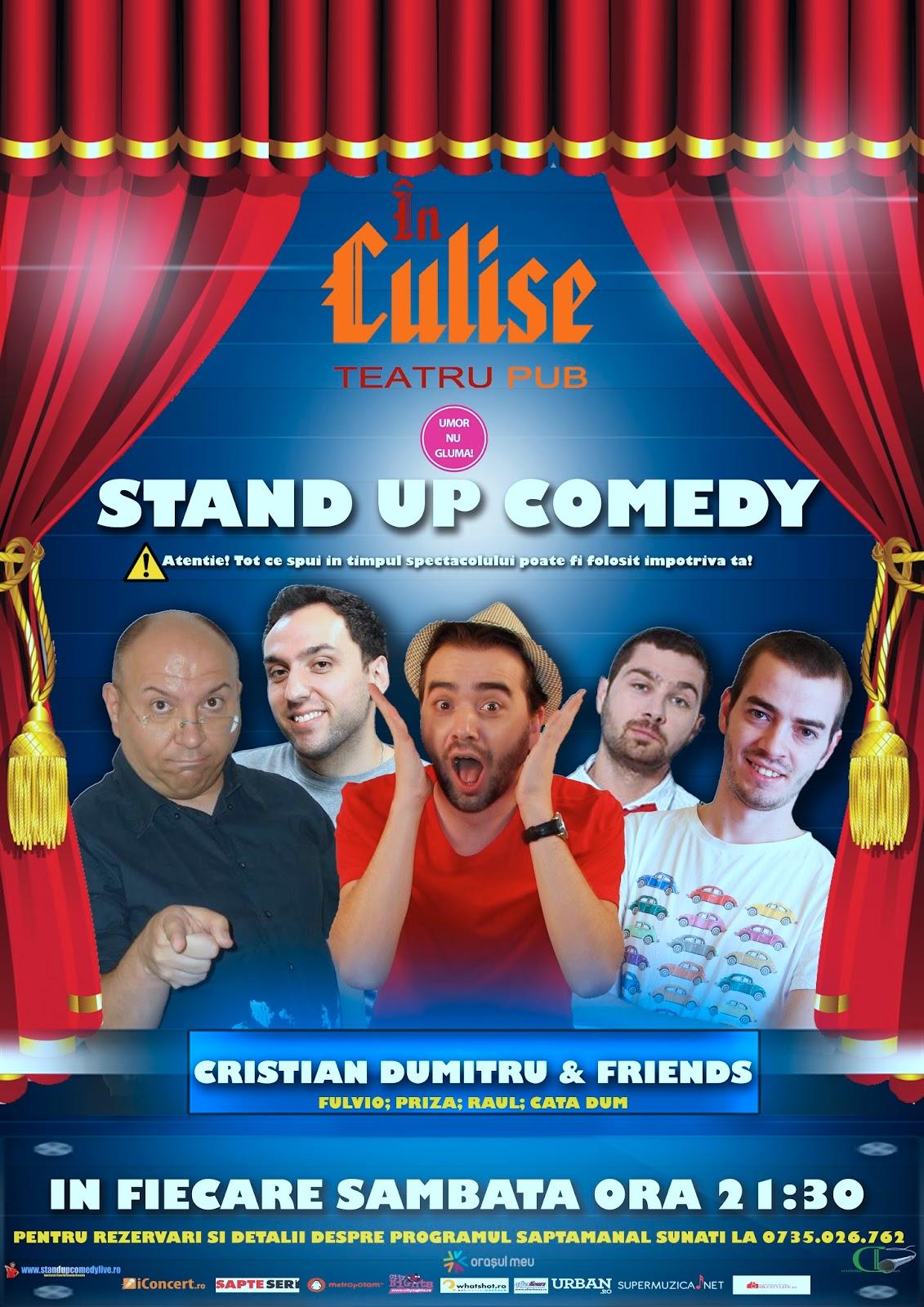 StandUp Comedy Bucuresti Sambata Bucuresti