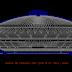 مقطع لقاعة رياضية مغطاة اوتوكاد dwg