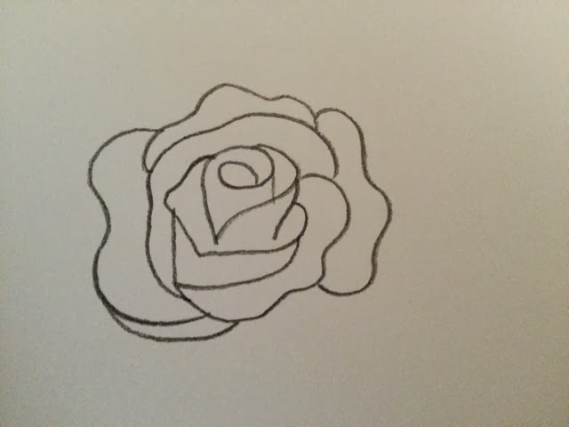 Line Drawing Of Rose Plant : Merinal brunda how to draw a rose