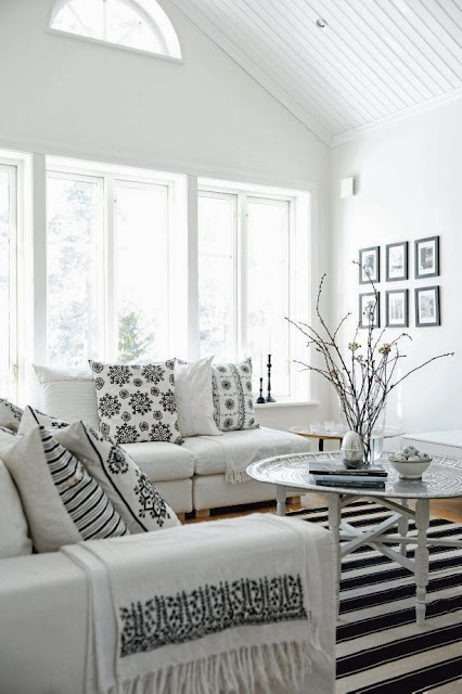 geometric white and black patterns Scandinavian-design