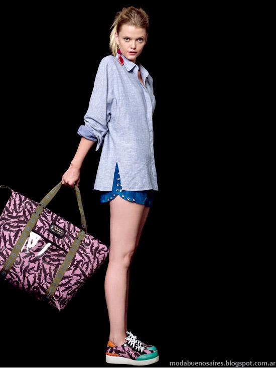 Jazmín Chebar primavera verano 2014 camisa de mujer.