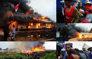Warga Mempayah Membakar Pemukiman Gafatar