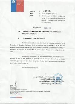 PIÑERA SABÍA DEL NARCOTRÁFICO DENTRO DE LA PDI PARA DESESTABILIZAR A ECUADOR
