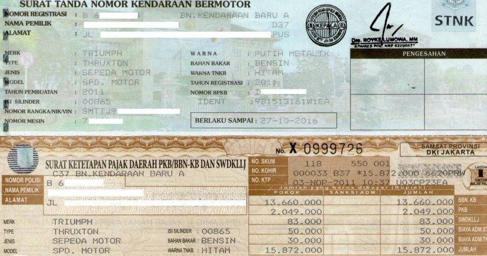 Jasa Urus Samsat: Cara Perpanjangan STNK (Surat Tanda ...