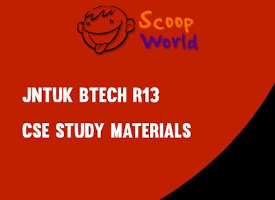 Jntuk CSE 3-2 study materials